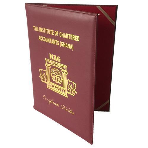 PU Certificate Folder, Hardcover Certificate Holders   Shengzhong