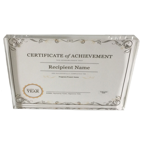 Acrylic Award Certificate Frames Wholesale, Custom Award Frames