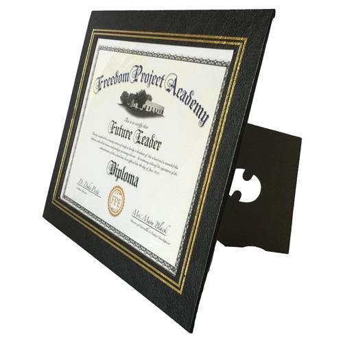 Custom Leatherette Certificate Frame, Bulk Certificate Frames