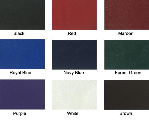 diplomacover colors black red maroon royal blue navy blue Forest green purple white brown