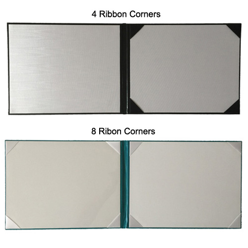 4 and 8 Ribbon Corners diploma covers