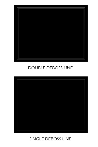 diploma cover double and single deboss line